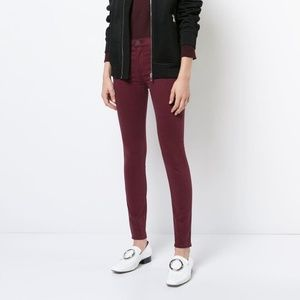 NWT Hudson Mid Rise Nico Skinny Jeans Maroon